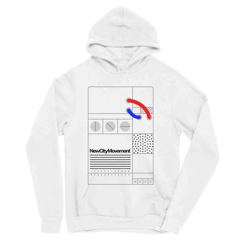 """New City Movement """"Console"""" [Positive Negative] by Mr. Gizmoe Men's Sponge Fleece Pullover Hoody by The New City Movement Shop"""
