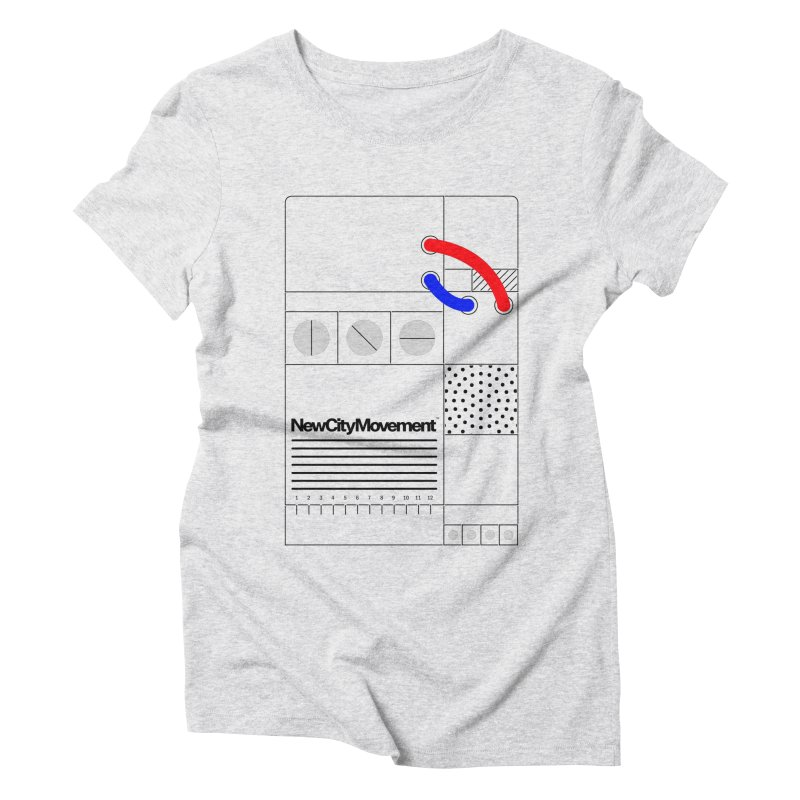 """New City Movement """"Console"""" [Positive Negative] by Mr. Gizmoe Women's Triblend T-Shirt by The New City Movement Shop"""