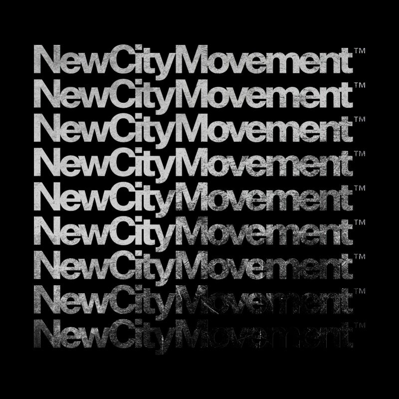 NCM Logo Waterfall, Silver Foil Effect Men's T-Shirt by The New City Movement Shop