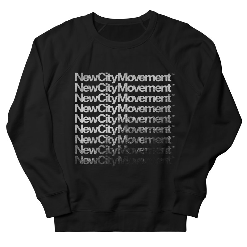 NCM Logo Waterfall, Silver Foil Effect Men's French Terry Sweatshirt by The New City Movement Shop