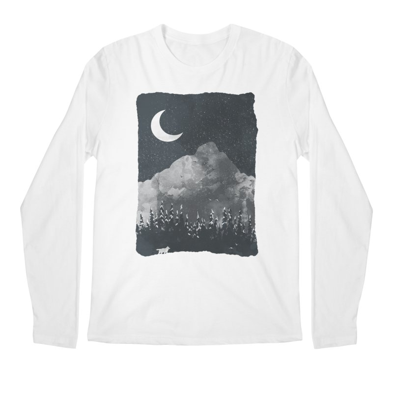 Winter Finds the Wolf... Men's Longsleeve T-Shirt by NDTank's Artist Shop