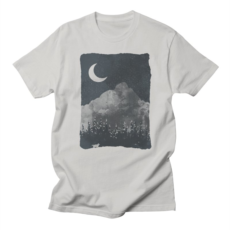 Winter Finds the Wolf... Men's T-Shirt by NDTank's Artist Shop