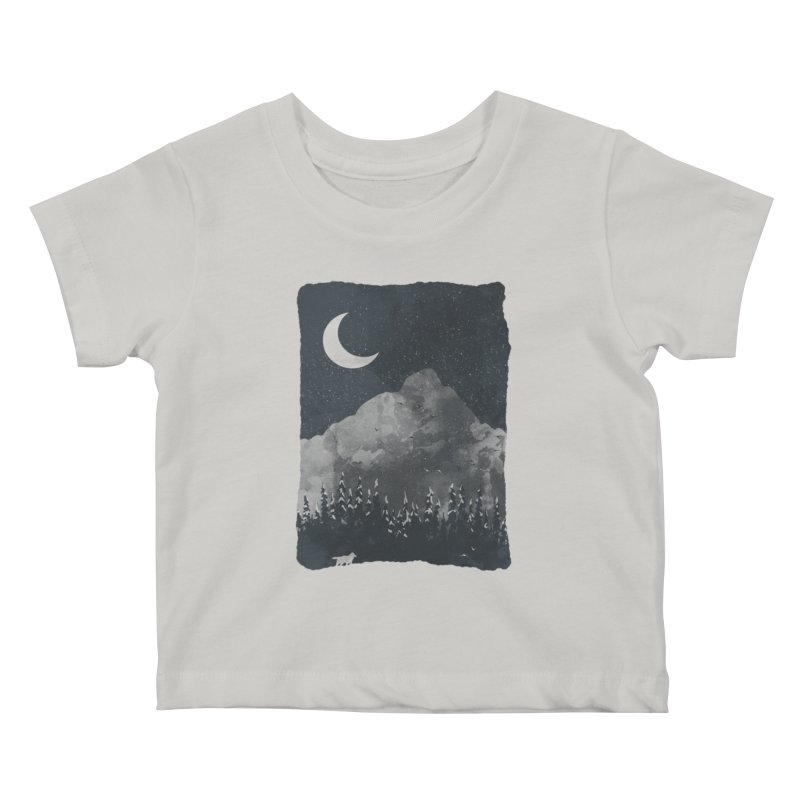 Winter Finds the Wolf... Kids Baby T-Shirt by NDTank's Artist Shop