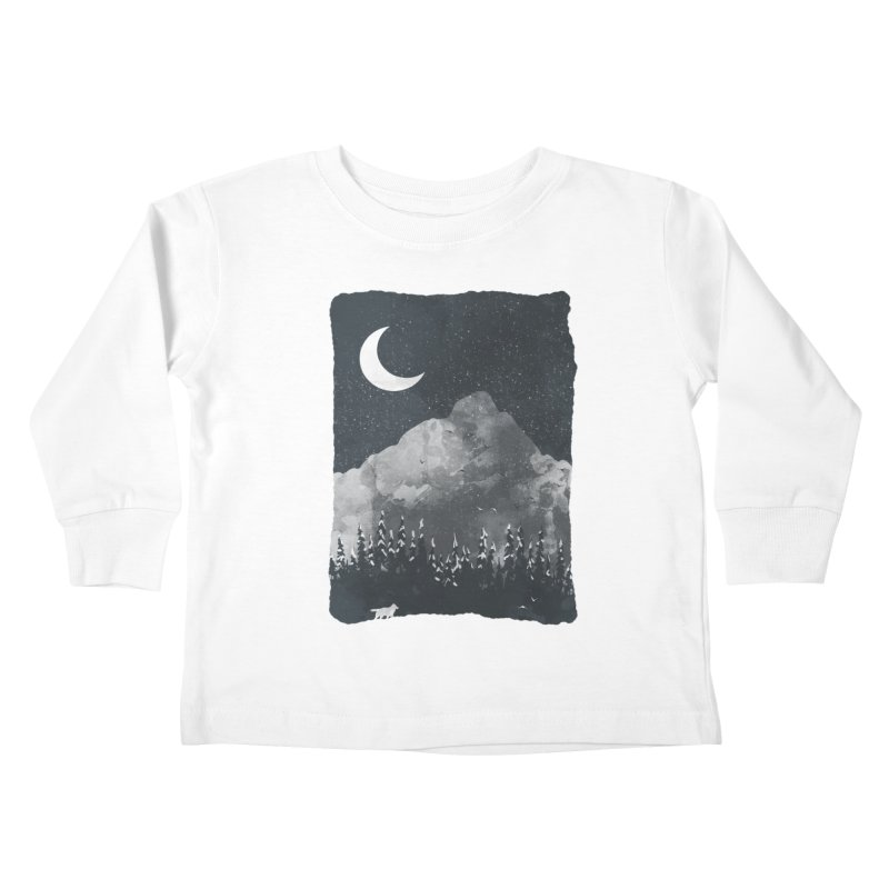 Winter Finds the Wolf... Kids Toddler Longsleeve T-Shirt by NDTank's Artist Shop