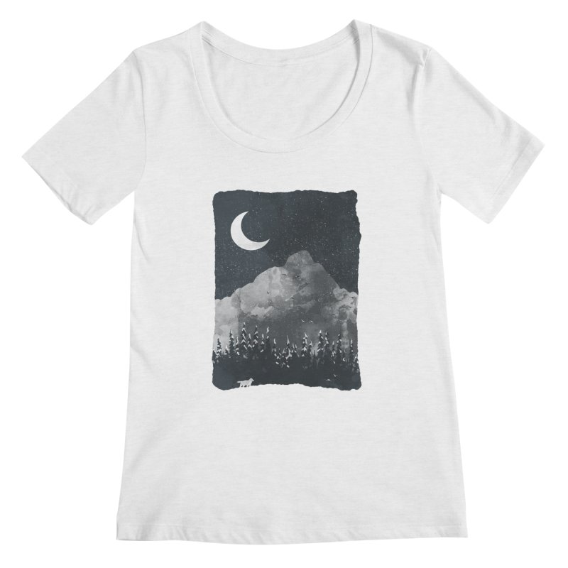 Winter Finds the Wolf... Women's Scoopneck by NDTank's Artist Shop