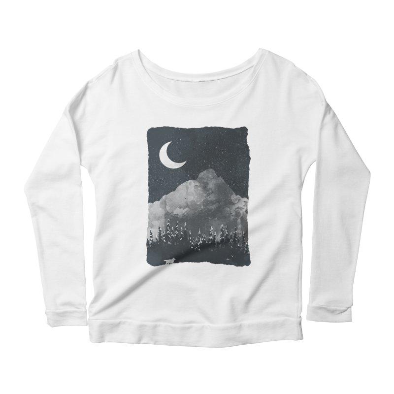 Winter Finds the Wolf... Women's Longsleeve T-Shirt by NDTank's Artist Shop