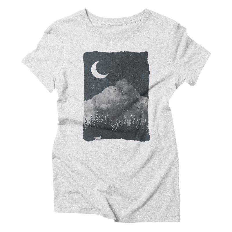 Winter Finds the Wolf... Women's T-Shirt by NDTank's Artist Shop