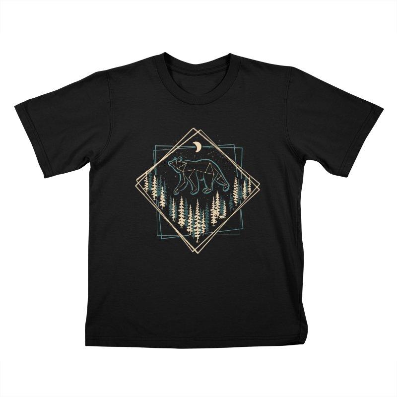 Heaven's Wild Bear... Kids T-Shirt by NDTank's Artist Shop