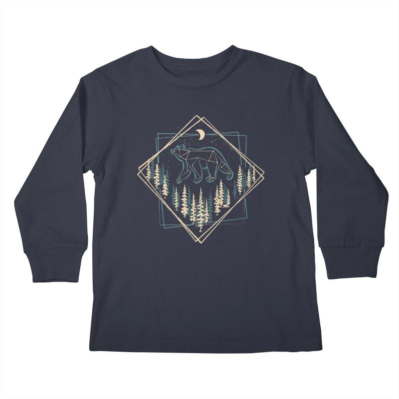 Heaven's Wild Bear... Kids Longsleeve T-Shirt by NDTank's Artist Shop