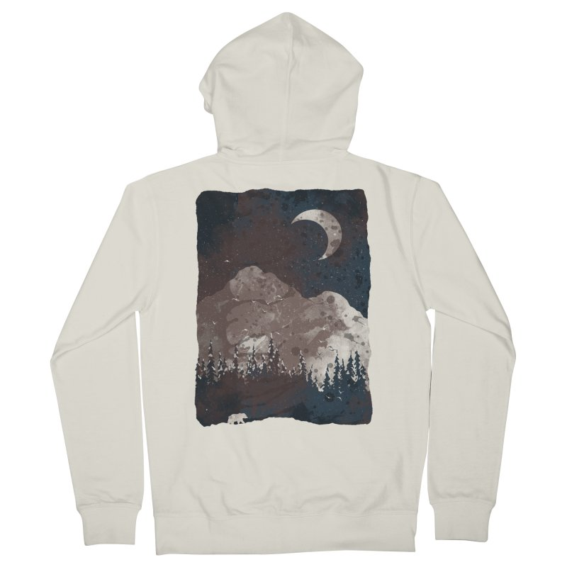 Winter Finds the Bear... Men's Zip-Up Hoody by NDTank's Artist Shop