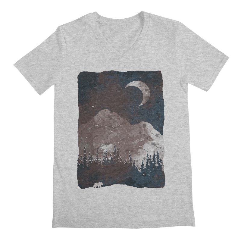 Winter Finds the Bear... Men's V-Neck by NDTank's Artist Shop