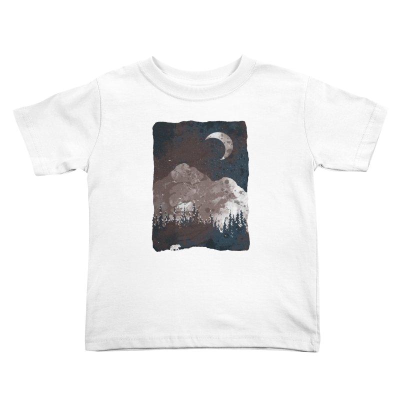 Winter Finds the Bear... Kids Toddler T-Shirt by NDTank's Artist Shop