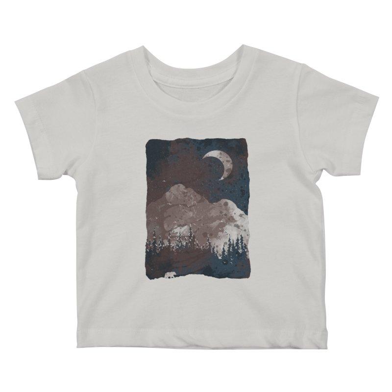 Winter Finds the Bear... Kids Baby T-Shirt by NDTank's Artist Shop