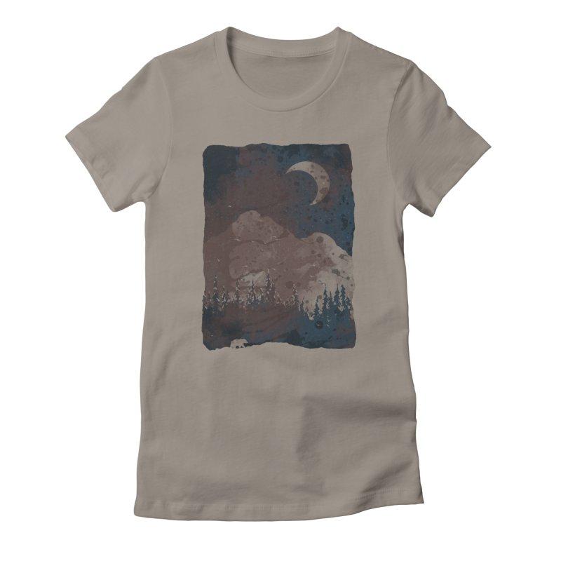 Winter Finds the Bear... Women's T-Shirt by NDTank's Artist Shop