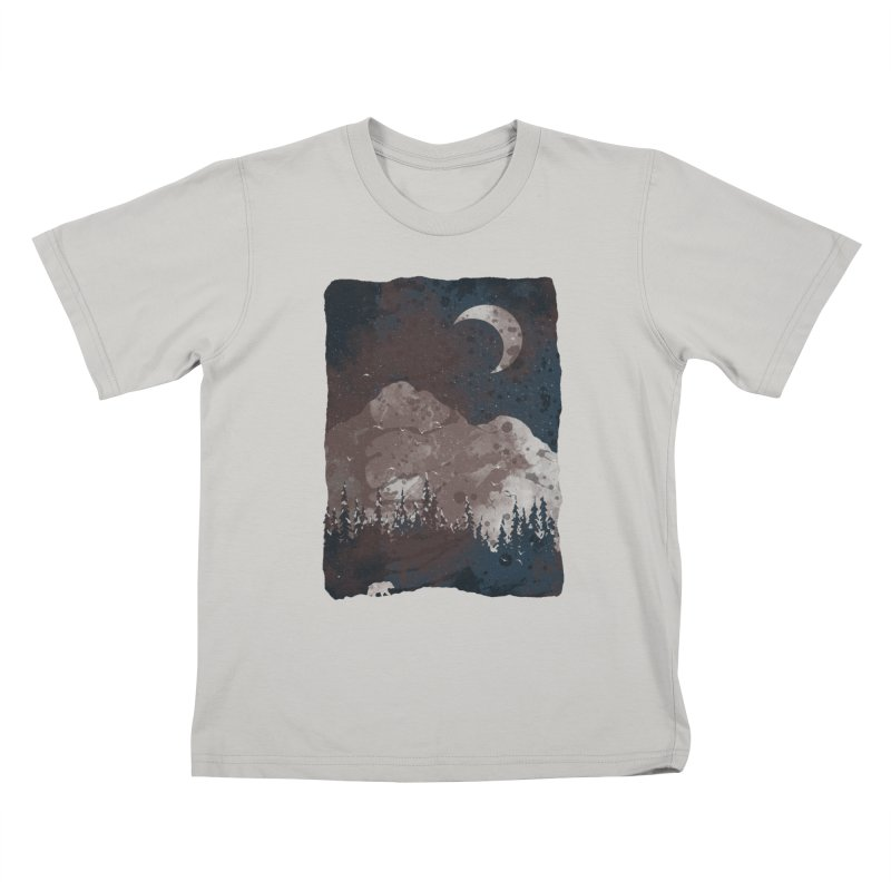 Winter Finds the Bear... Kids T-shirt by NDTank's Artist Shop
