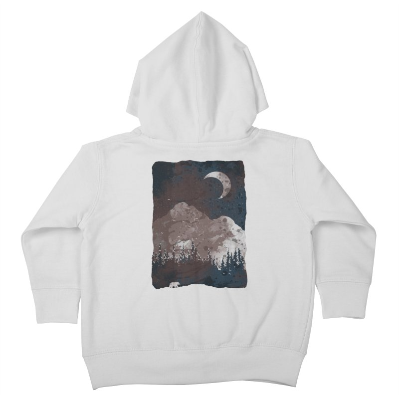 Winter Finds the Bear... Kids Toddler Zip-Up Hoody by NDTank's Artist Shop
