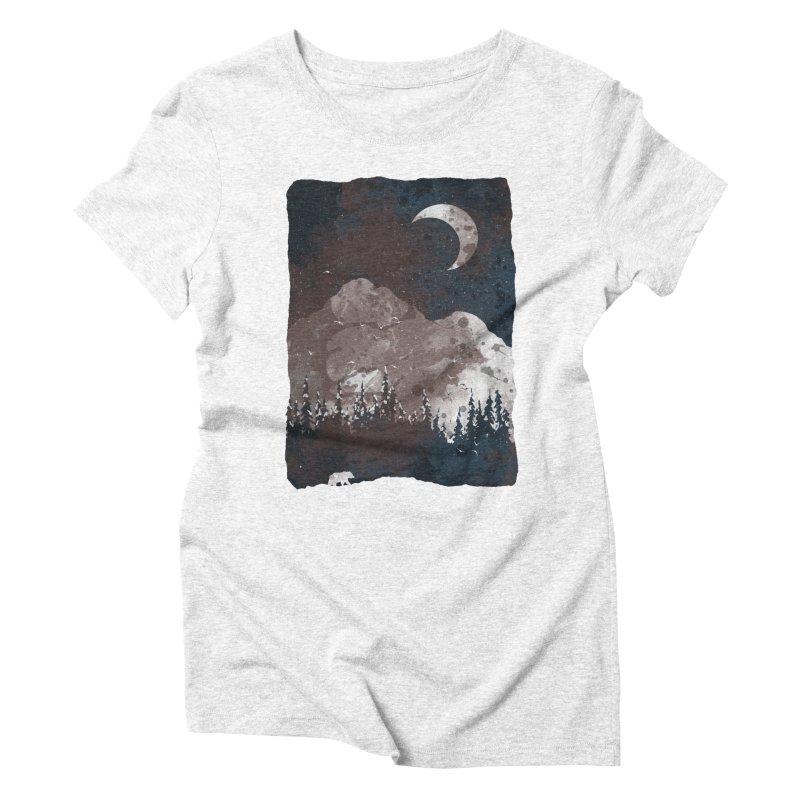Winter Finds the Bear... Women's Triblend T-shirt by NDTank's Artist Shop