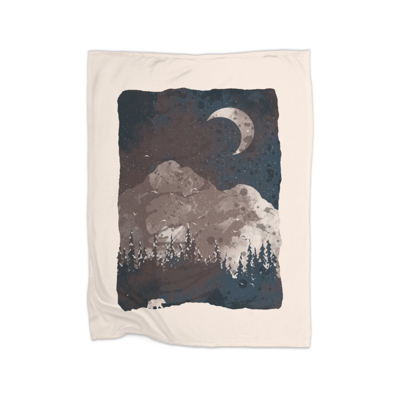 Winter Finds the Bear... Home Blanket by NDTank's Artist Shop