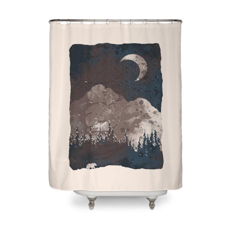 Winter Finds the Bear... Home Shower Curtain by NDTank's Artist Shop