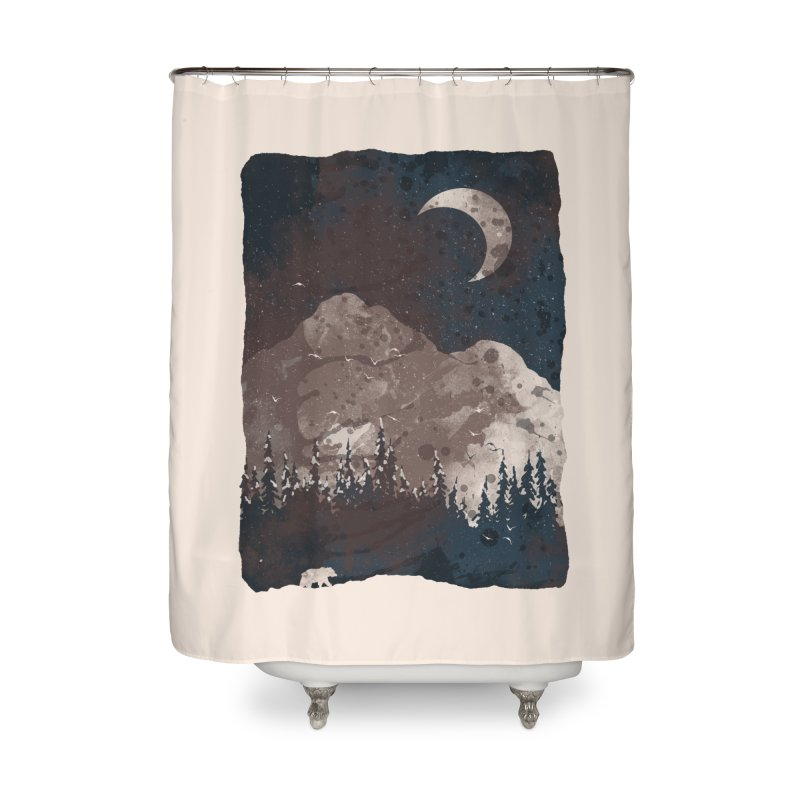 Winter Finds the Bear... Home Shower Curtain by NDTank's Artist Shop