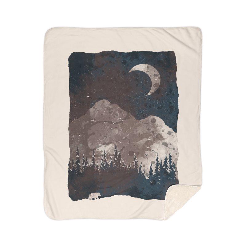 Winter Finds the Bear... Home Blanket by NDTank's Artist Shop