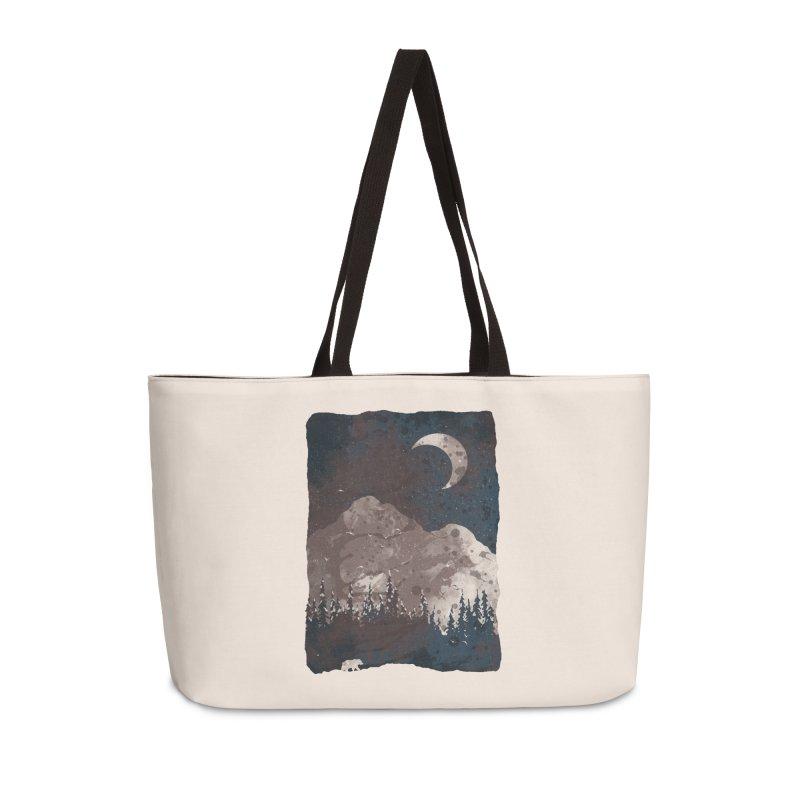 Winter Finds the Bear... Accessories Bag by NDTank's Artist Shop