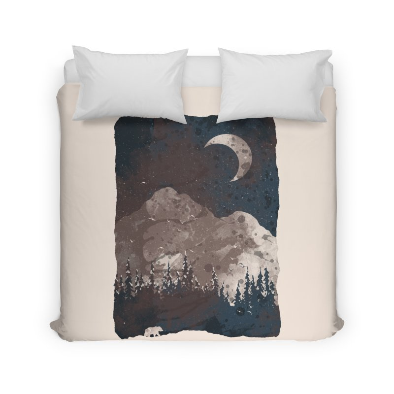 Winter Finds the Bear... Home Duvet by NDTank's Artist Shop
