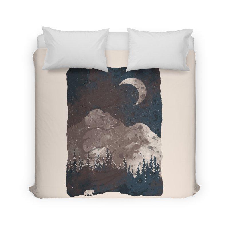 Winter Finds the Bear... Home Duvet by NDTank's Artist Shop