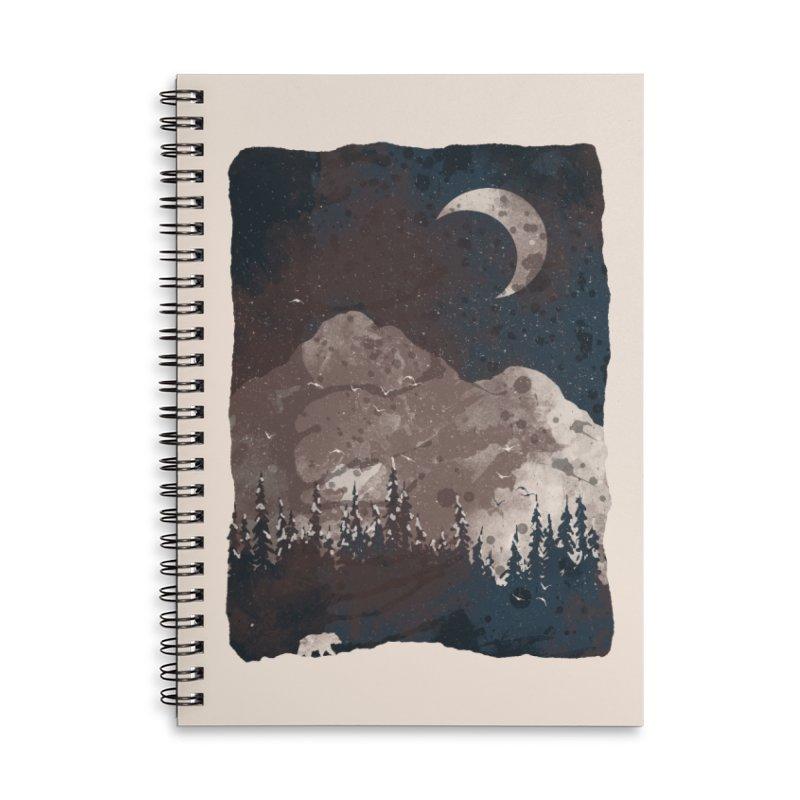 Winter Finds the Bear... Accessories Notebook by NDTank's Artist Shop