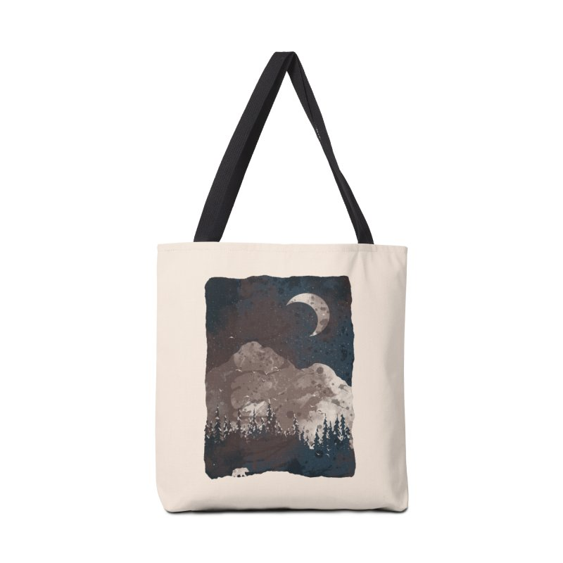Winter Finds the Bear... Accessories Bag by NDTank's Artist Shop