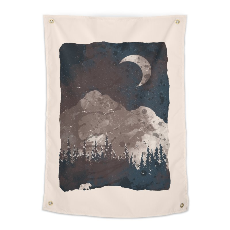 Winter Finds the Bear... Home Tapestry by NDTank's Artist Shop