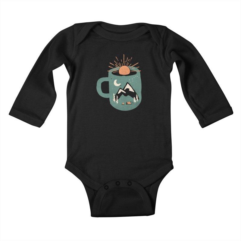 Mountain Morning Wake Up... Kids Baby Longsleeve Bodysuit by NDTank's Artist Shop