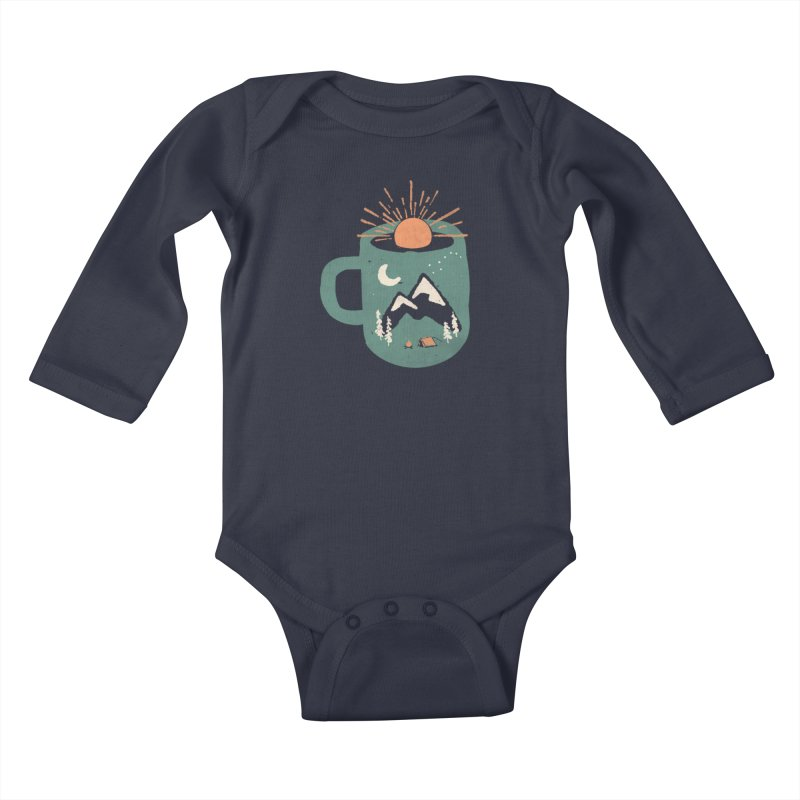 Mountain Morning Wake Up... Kids Baby Longsleeve Bodysuit by NDTank's Artist Shop