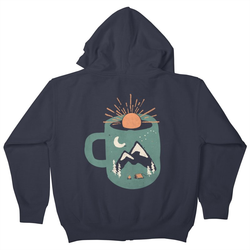 Mountain Morning Wake Up... Kids Zip-Up Hoody by NDTank's Artist Shop