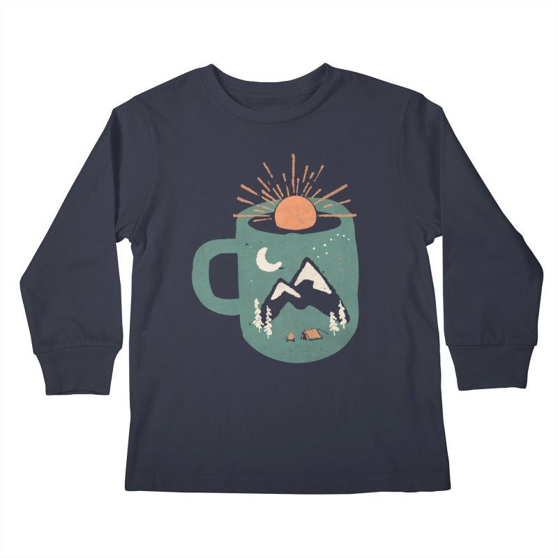 Mountain Morning Wake Up... Kids Longsleeve T-Shirt by NDTank's Artist Shop