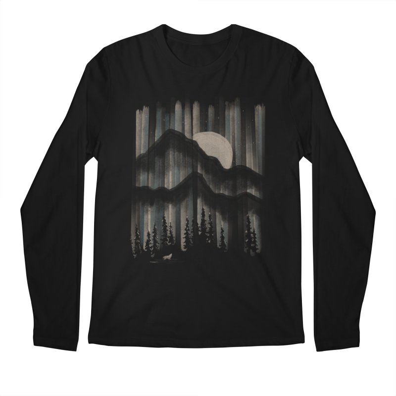 A Wolf in the Night... Men's Longsleeve T-Shirt by NDTank's Artist Shop