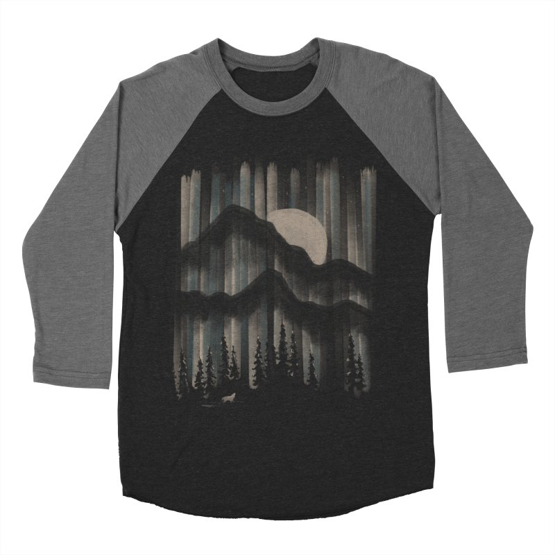 A Wolf in the Night... Men's Baseball Triblend T-Shirt by NDTank's Artist Shop
