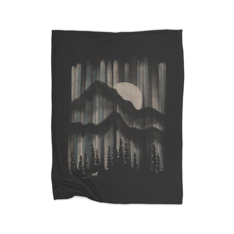 A Wolf in the Night... Home Blanket by NDTank's Artist Shop