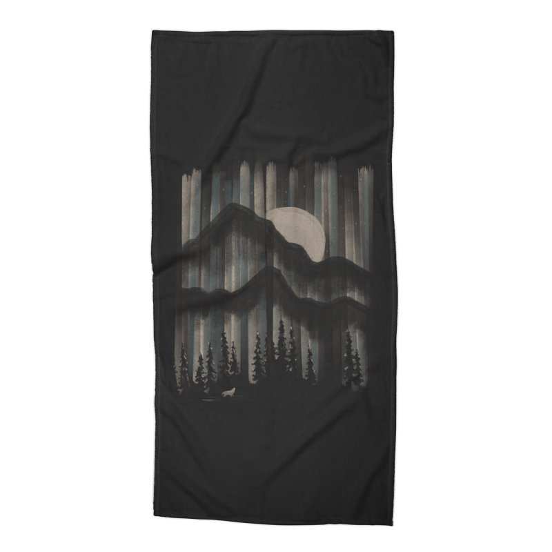 A Wolf in the Night... Accessories Beach Towel by NDTank's Artist Shop