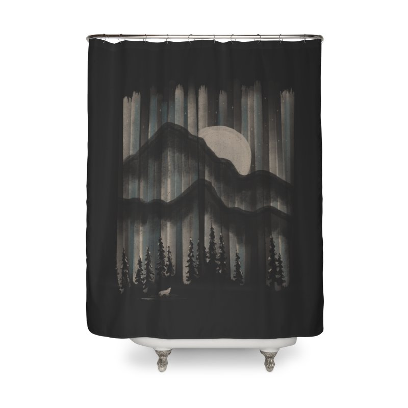 A Wolf in the Night... Home Shower Curtain by NDTank's Artist Shop