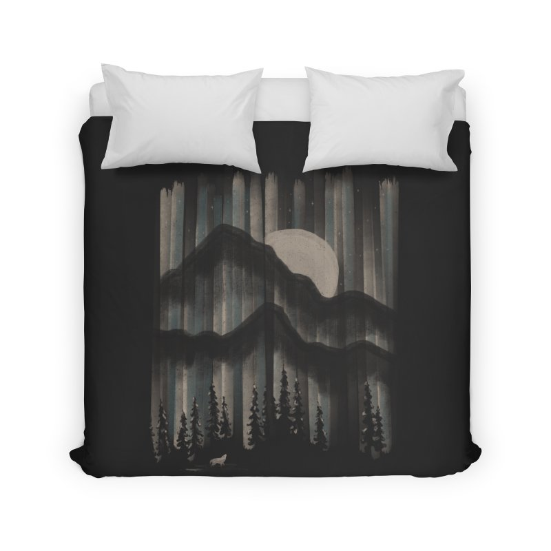 A Wolf in the Night... Home Duvet by NDTank's Artist Shop