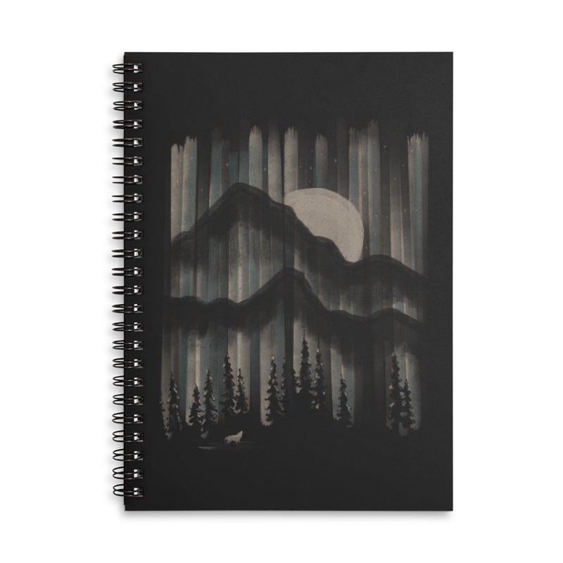 A Wolf in the Night... Accessories Notebook by NDTank's Artist Shop