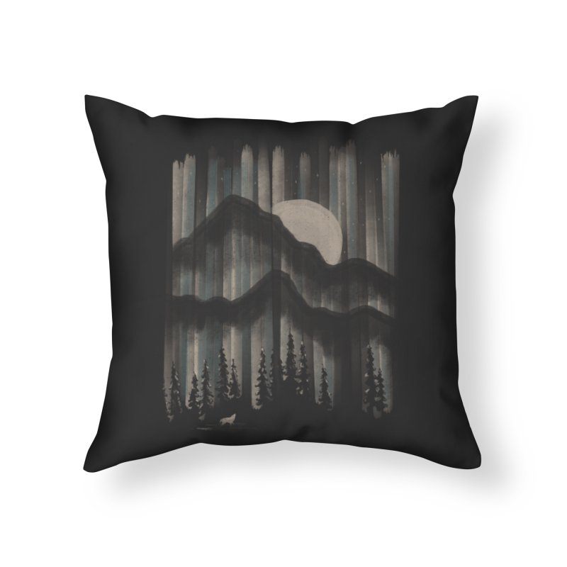 A Wolf in the Night... Home Throw Pillow by NDTank's Artist Shop
