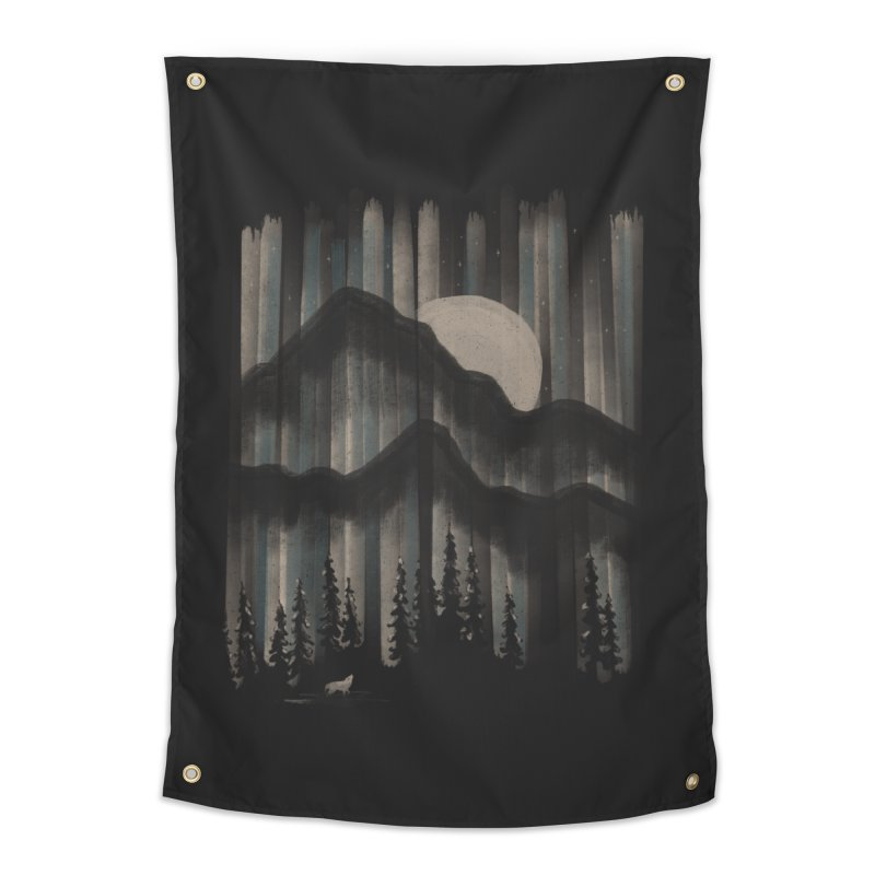 A Wolf in the Night... Home Tapestry by NDTank's Artist Shop