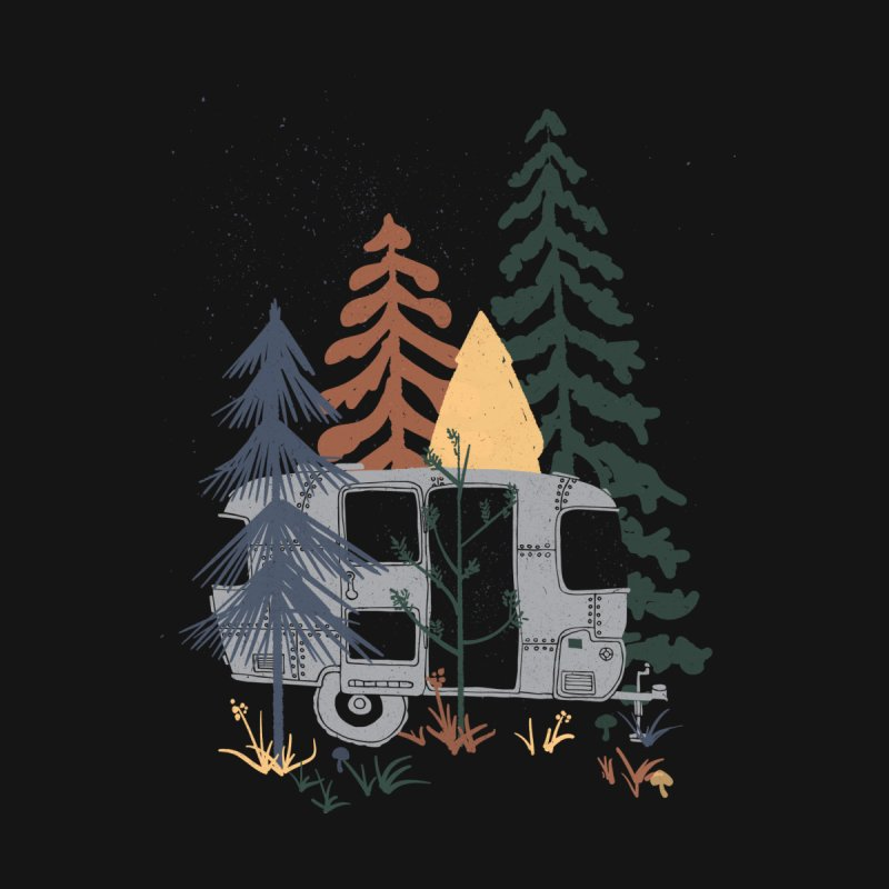 Wild Airstream... Kids Longsleeve T-Shirt by NDTank's Artist Shop