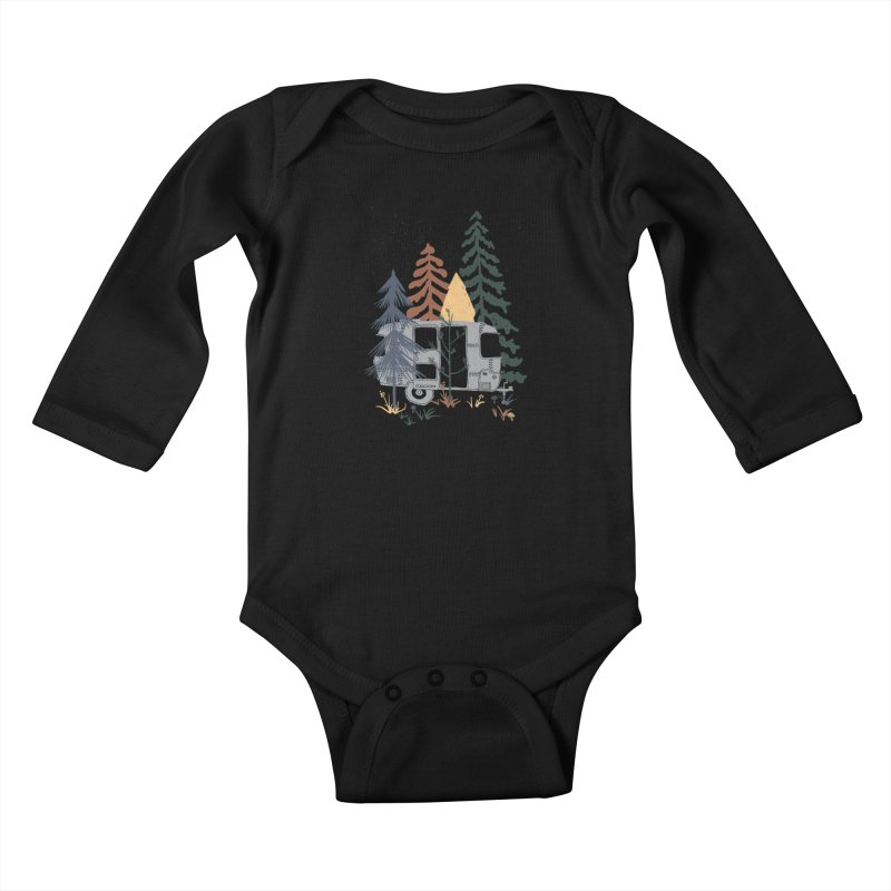 Wild Airstream... Kids Baby Longsleeve Bodysuit by NDTank's Artist Shop