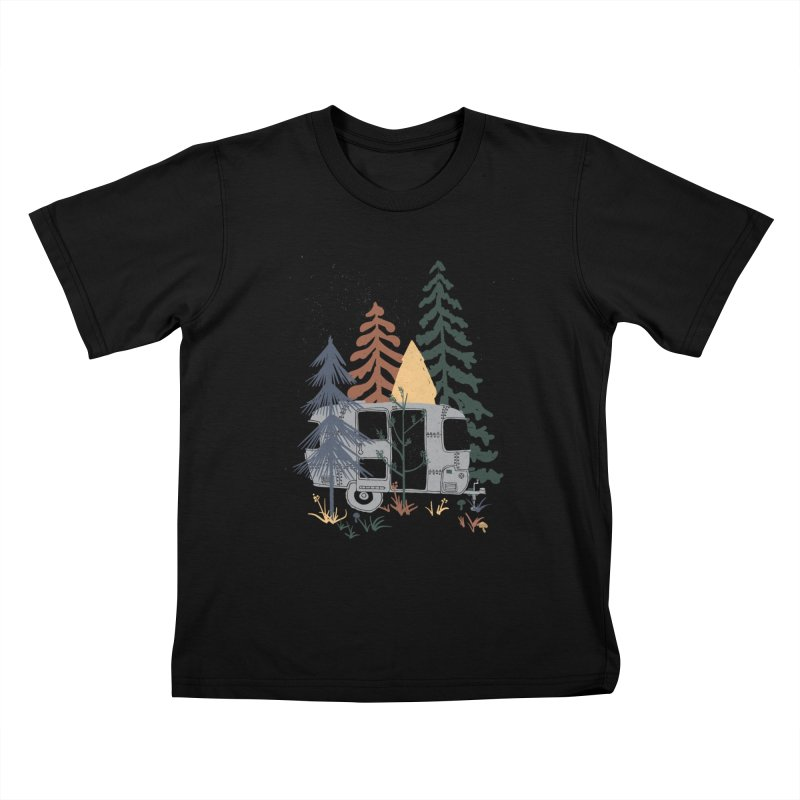 Wild Airstream... Kids T-Shirt by NDTank's Artist Shop