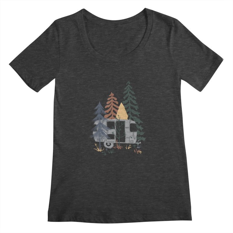 Wild Airstream... Women's Scoopneck by NDTank's Artist Shop