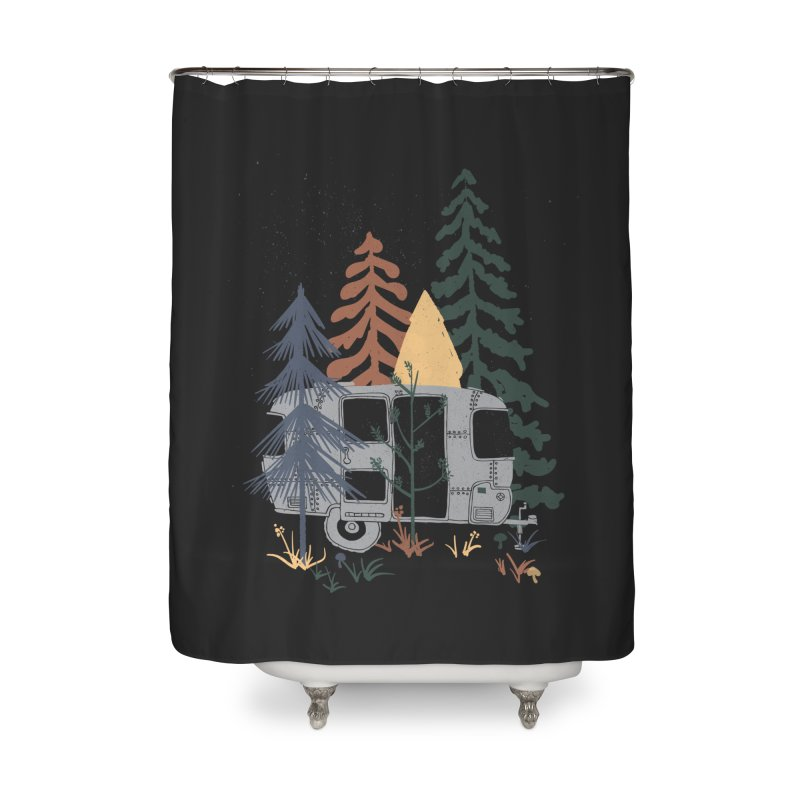 Wild Airstream... Home Shower Curtain by NDTank's Artist Shop