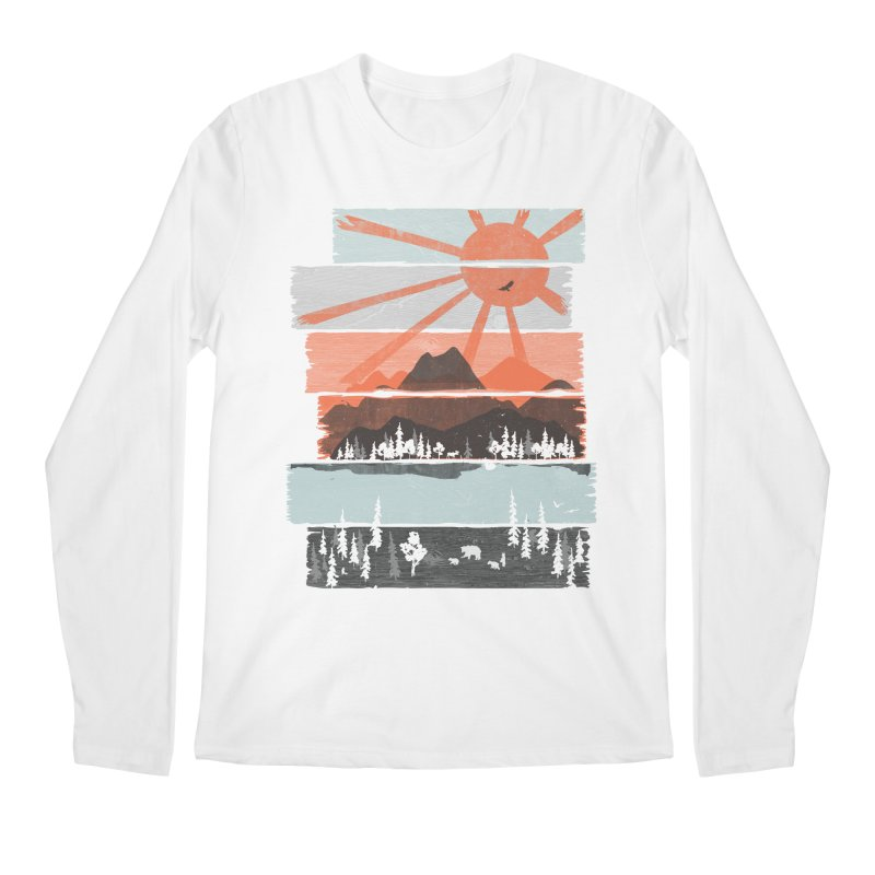 Morning by Bear River... Men's Longsleeve T-Shirt by NDTank's Artist Shop